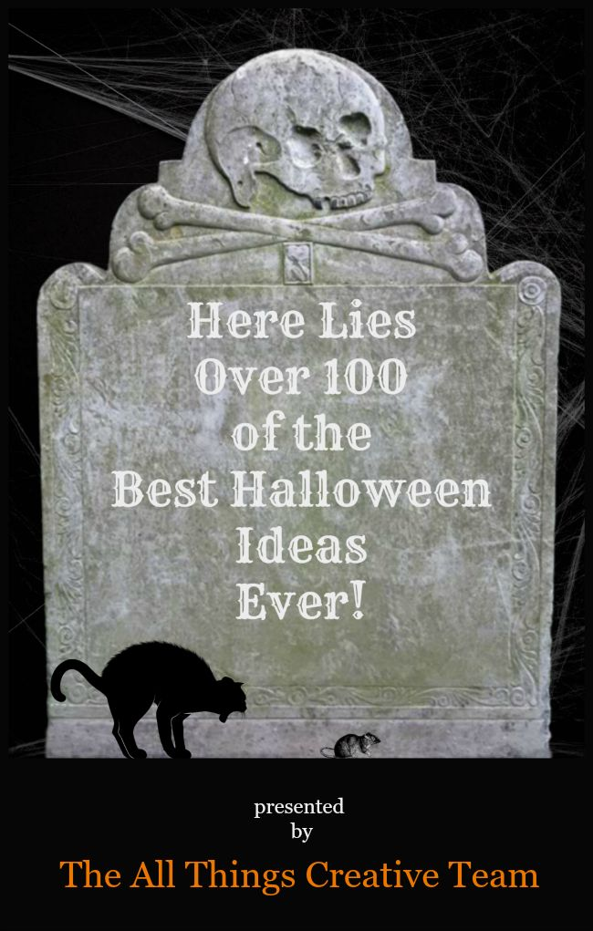 Over 100 easy to DIY Halloween ideas-crafts, decor, recipes, and more! All in one place, too!