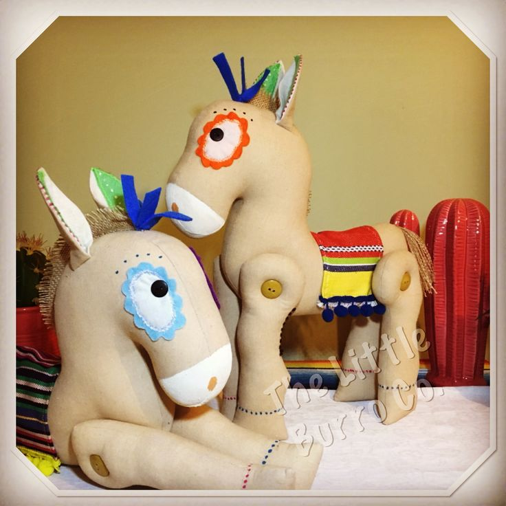 Our cute original Little Burro's. Designed and made by The Little Burro Co.