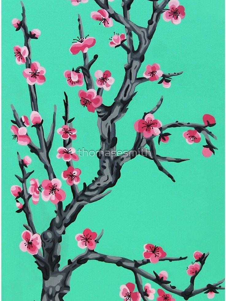 Arizona Tea Cherryblossom Greentea Green Turquoise Art Marketing Flora Tree Sakura Design Cherry Cool Neat B Arcylic Painting Tea Wallpaper Art