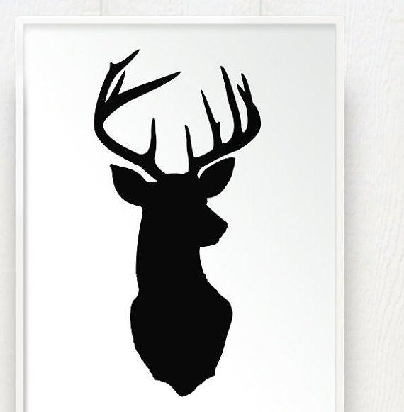 die besten 17 ideen zu hirschkopf silhouette auf pinterest. Black Bedroom Furniture Sets. Home Design Ideas
