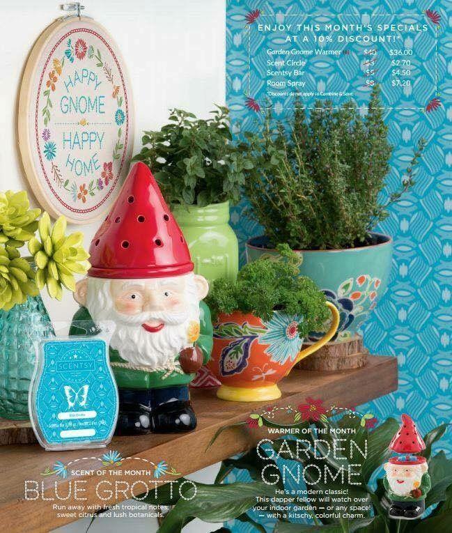 March warmer. Garden Gnome warmer Blue Grotto scentsy bar www.nikkiwickless.scentsy.us
