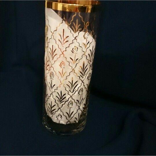 Tırtıklı beykoz çalışması vazo