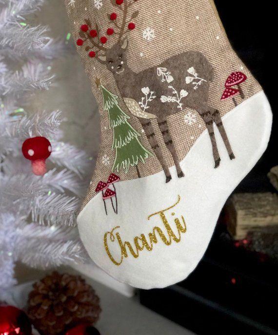 Personalised Christmas Stocking Monogrammed Stocking Etsy