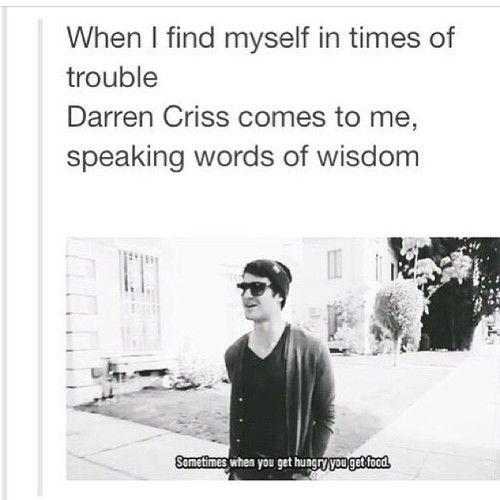 Thank you, Darren Criss!