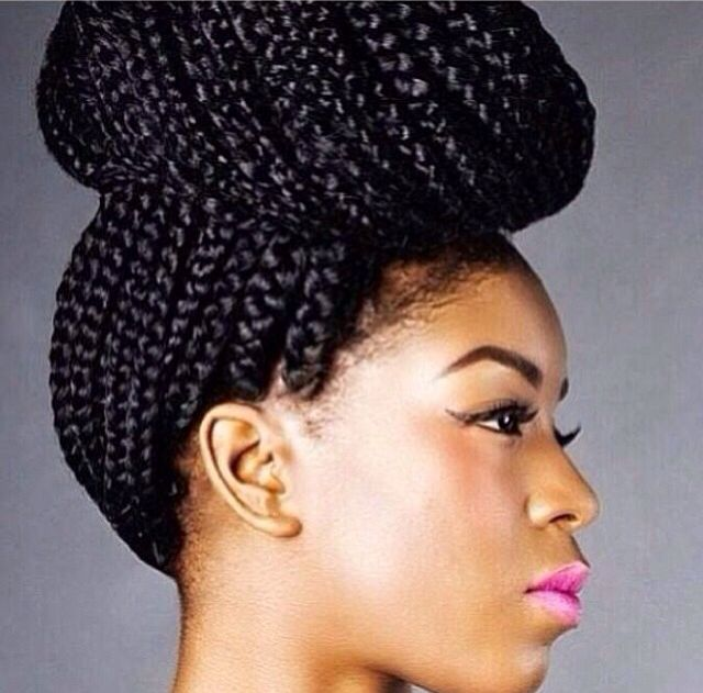 ...: Braids Hairstyles, Protection Hairstyles, Beautiful, Braids Style, Natural Hair, Hair Style, Boxes Braids Buns, Protection Style, Black Girls