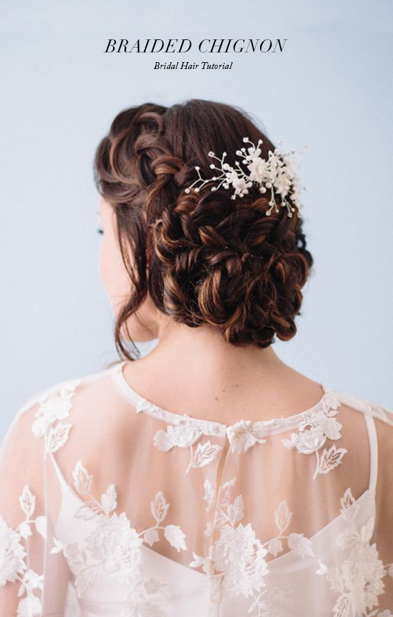 Romantic braided chignon hair tutorial