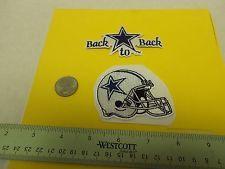 "Dallas Cowboys Helmet Embroidered Patch 2 25"" x 2 3/4"" Logo Crest plus Bonus"