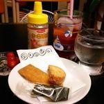 カオリ座 - 料理写真:梅りんご酢ジュース650円と今日のお菓子