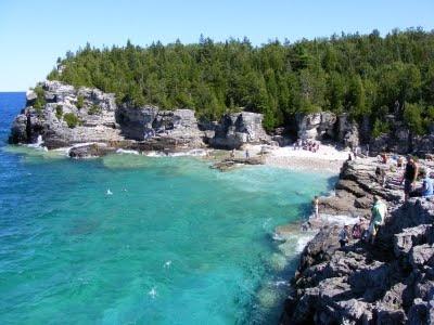 Tobermory. Bruce Peninsula National Park. Georgian Bay, Ontario.