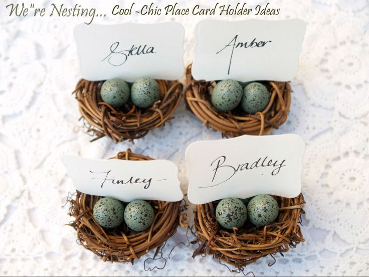 Were Nesting Cool Chic Place Card Holder Ideas
