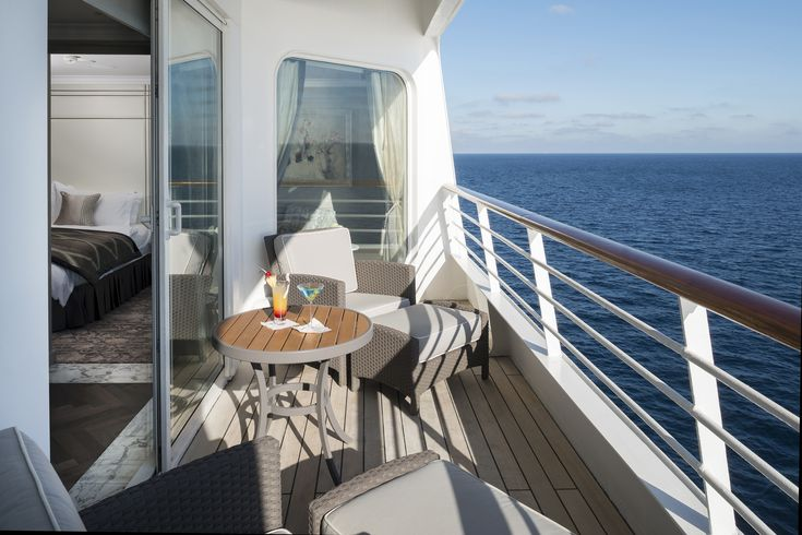 Not a bad view from your own private veranda aboard #CrystalSerenity!
