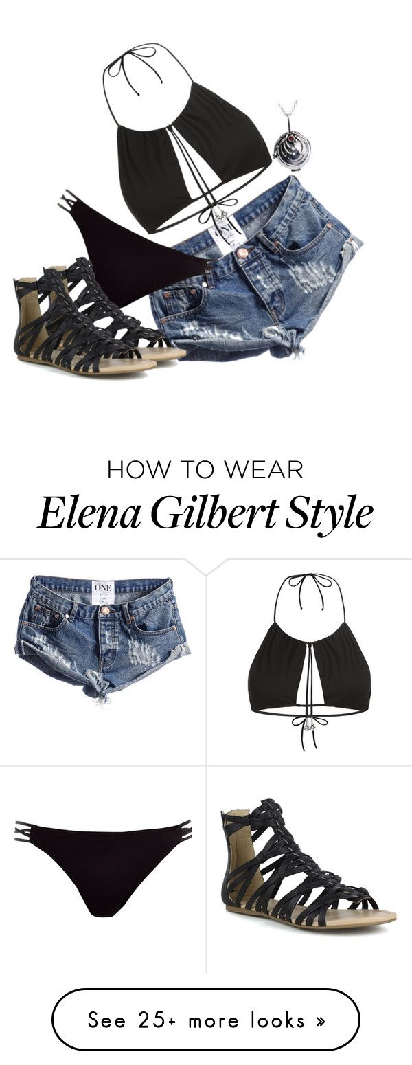 """""""Elia Gilbert ▷ The Vampire Diaries"""" by halesmarshall on Polyvore featuring River Island, La Perla and Mark & Maddux"""