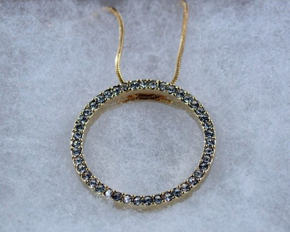 Circle Pendant  Brilliant Austrian Crystal with by XYSAccessories, $24.95
