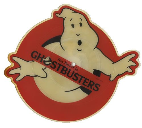 Custom shaped 1984 Ghostbusters record - Ray Parker Jr. - 2 tracks, one vocal, one instrumental