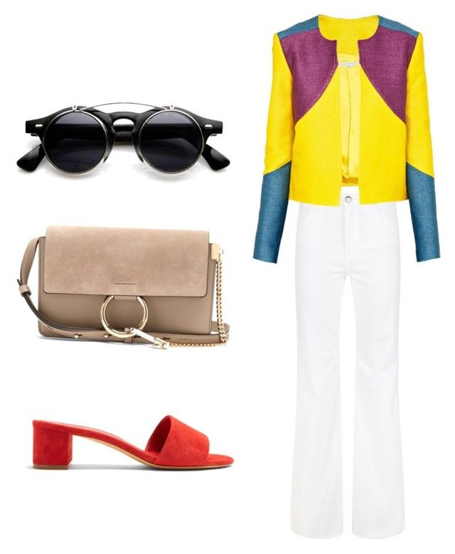 Bold Jacket - How to style by thinklikeyasso on Polyvore featuring polyvore, fashion, style, Christina Economou, Maje, Mansur Gavriel, Chloé and clothing
