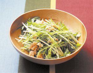 水菜とツナのサラダ | 石原洋子さんのレシピ【オレンジページnet】プロに教わる簡単おいしい献立レシピ
