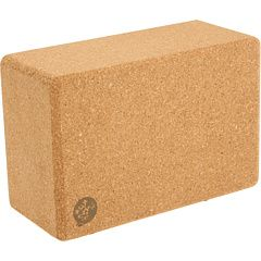 Manduka Cork Yoga Block: Well made of substantial cork with rounded edges, and above all, stable. $18. #Yoga_Block #Cork_Block #Manduka