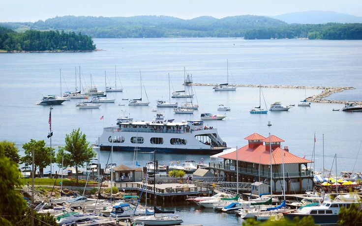 """VERMONT: Lake Champlain ferries can take you from Vermont to upstate New York in just over an hour. Try taking a ferry from Burlington to Port Kent, New York, and take in the beautiful mountain views. You might even catch sight of """"Champ,"""" the rumored Lake Champlain monster."""