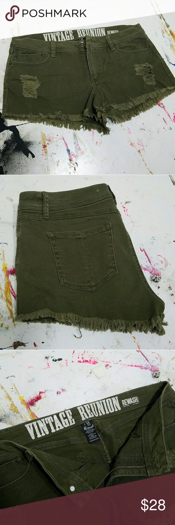 NWOT Distressed army shorts Like what you see but not the price tag? Make an offer =) feel free to ask any questions!   NEW WITHOUT TAGS Vintage Reunion  Shorts