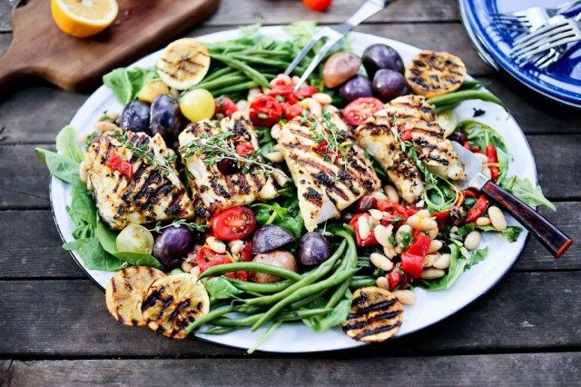 Summer Nicoise Salad with Grilled Fish