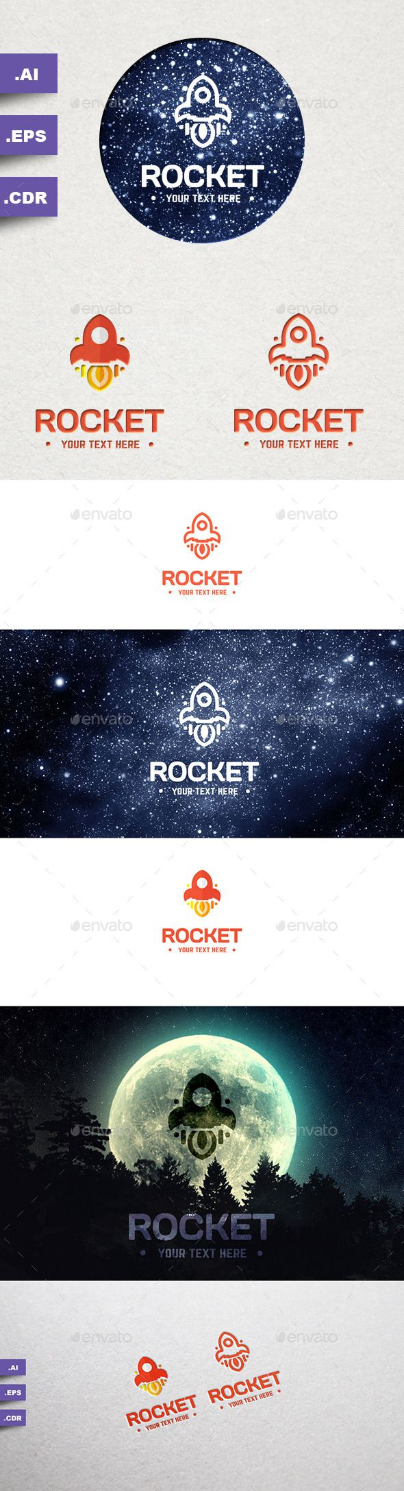 Rocket Logo — Vector EPS #space #spaceship • Available here → https://graphicriver.net/item/rocket-logo/9919227?ref=pxcr
