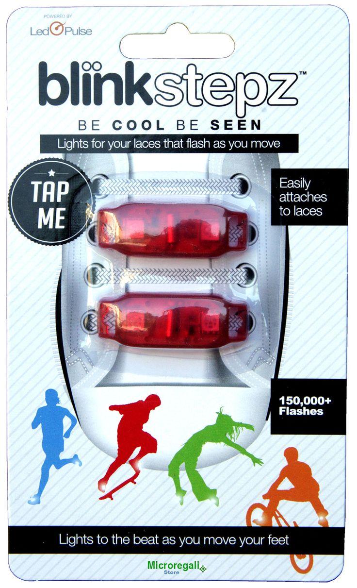 Lampeggiante per Scarpe BLINK STEPZ ROSSO LED ROSSI. Per lo Sport e il divertimento. I Led si accendono con il movimento. - Orologi Blink Ti...
