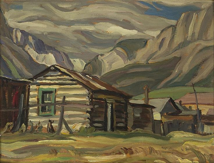 Alexander Young (A.Y.) Jackson, RCA, OSA, CGP, Canadian (1882-1974), Canmore, Alberta, oil on panel, 10 1/2 x 13 1/2 in. (26.6 x 34....