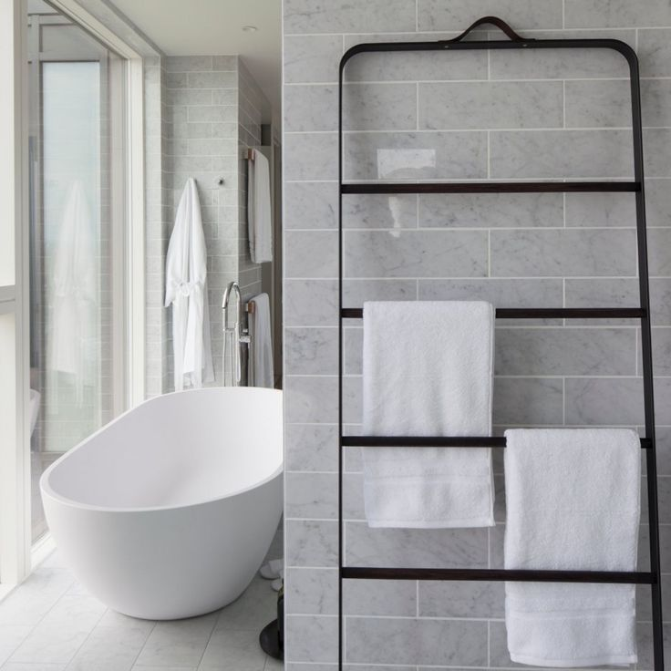 Menu towel ladder spotted on www.contemporist.com