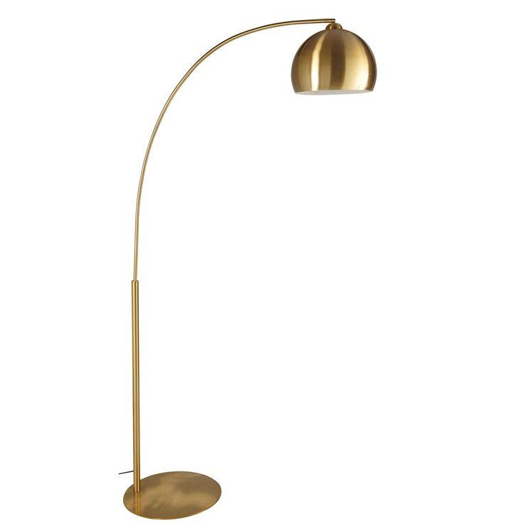 Stehlampe aus goldfarbenem Metall H.206cm | Maisons du Monde
