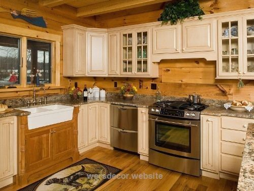 Beautiful Artistic Log Cabin Kitchen | Kitchen Appliance Reviews  Beautiful Artistic Log Cabin Kitchen  http://www.wersdecor.website/2017/05/07/beautiful-artistic-log-cabin-kitchen-kitchen-appliance-reviews/