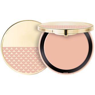 PUPA Pink Muse Cream Highlighter, Rozświetlacz w kompakcie, 001 Luxe Gold Dzięki wysokiej zawartości perłowych drobinek zapewnia pełną blasku cerę