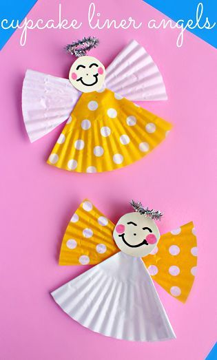 Cupcake Liner Angel #Craft for Kids | CraftyMorning.com