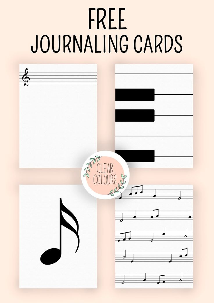 Source: clear colours: Free Journaling Cards: Music