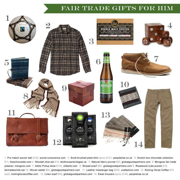 Fair trade gift guide for him