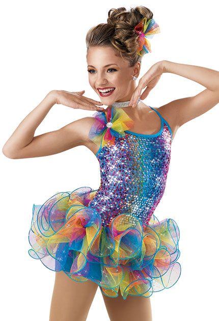 Weissman™ | Sequin Rainbow Skirt Biketard