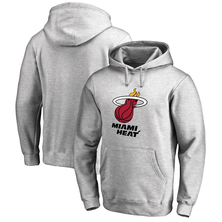 Miami Heat Team Essential Pullover Hoodie - Heather Gray - $59.99