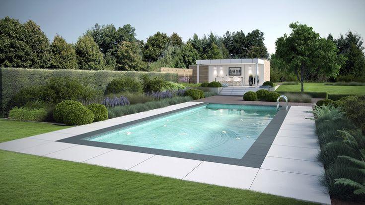 Les 25 meilleures id es de la cat gorie piscine magiline sur pinterest liner gris piscine - Bassin tuin ontwerp ...