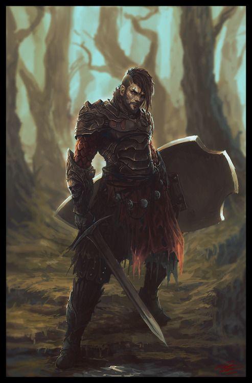 "meninfantasyart: "" Seasoned Warrior by Peter-Ortiz """
