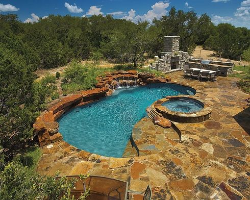 17 best images about stone pool decks on pinterest for Pool design types
