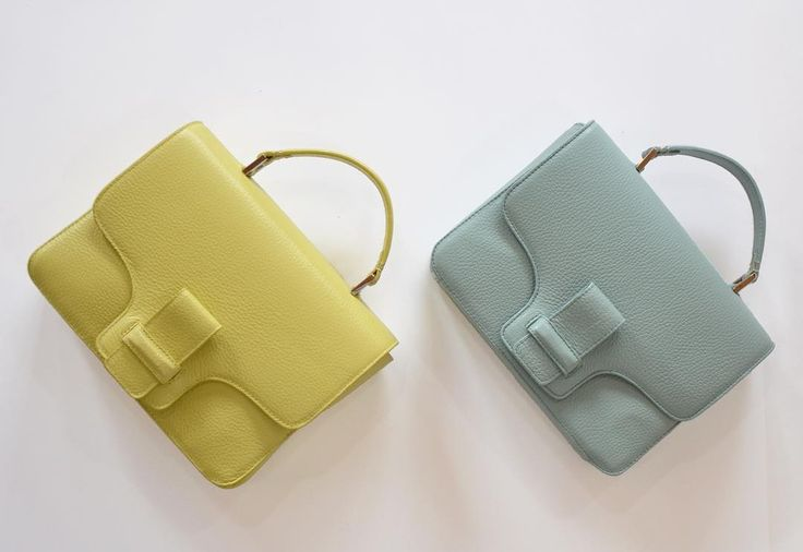 La Pradera Shoulder Bag in mint and canary!  The spring/summer collection is here. Get yours now @8424estudio