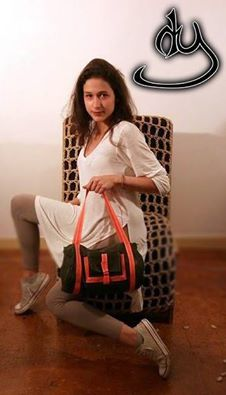 Army stile bag with a touch of orange cord for spring and summer