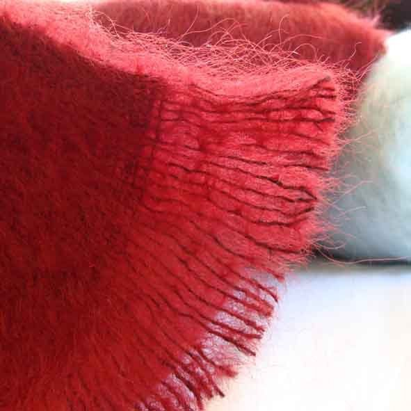 Red throw blankets - stunning rich red from Mohairs and More www.mohairsandmore.com