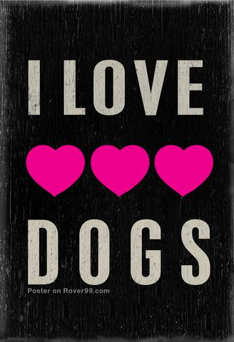 Rover 99 - *I Love Dogs   Poster - new poster design by A Place To Love Dogs…