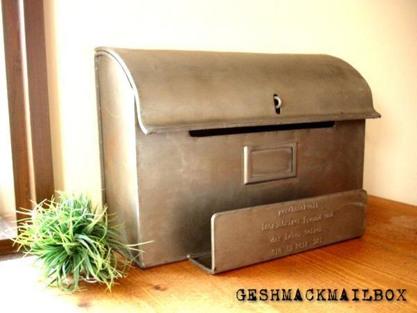 【楽天市場】★アンティークな風合い シャビーなブリキのメールボックス(郵便受け)雑貨通販【RCP】:selectstore