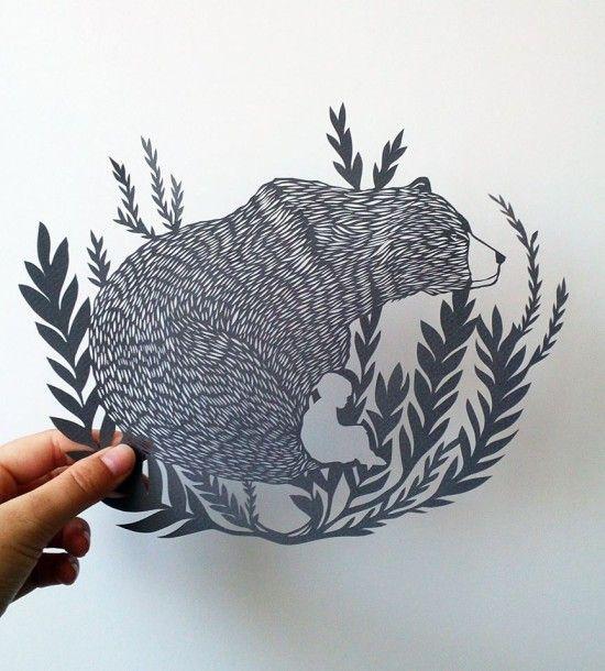 Ppaer art by Monique van Uden