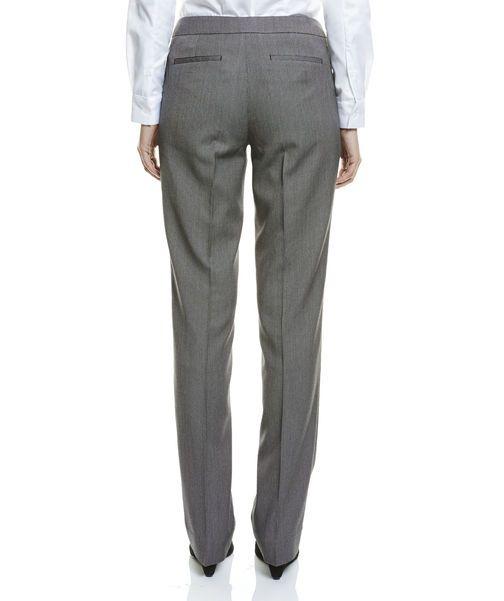 Birdseye Slim Pants, GREY