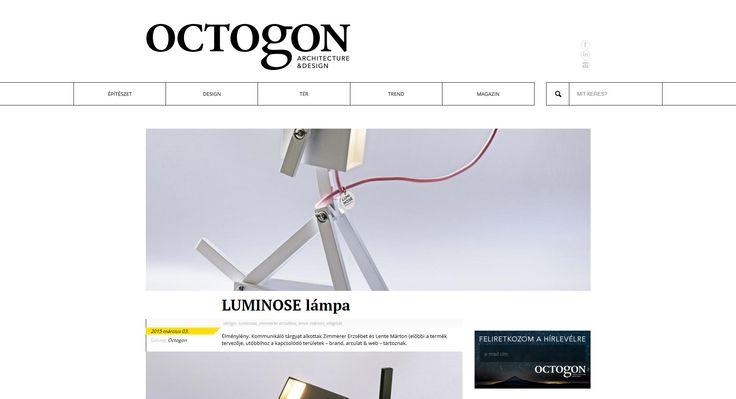 """""""Élménylény. Kommunikáló tárgyat alkottak Zimmerer Erzsébet és Lente Márton…"""" – at Octogon.hu by Octogon Architecture&Design. #luminose #octogon"""