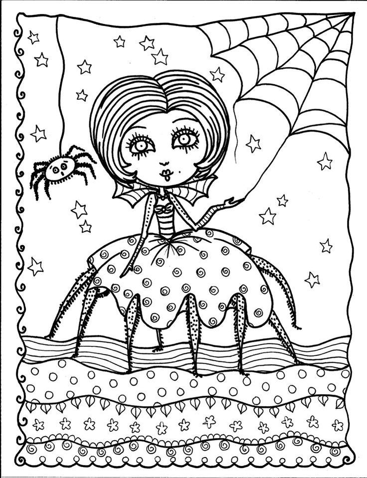funny finished coloring book pages | 198 best Halloween to Color images on Pinterest | Coloring ...