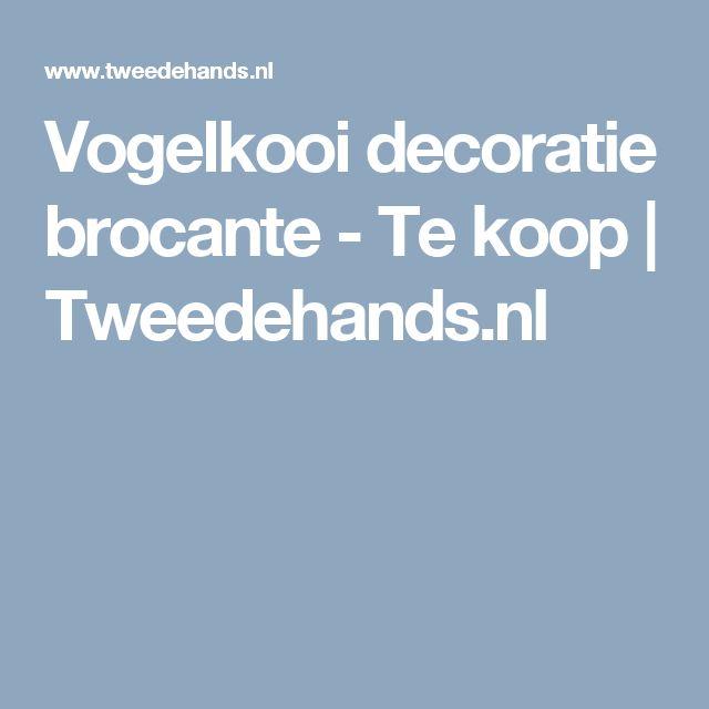 Vogelkooi decoratie brocante - Te koop | Tweedehands.nl