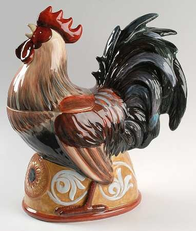 1000 images about cookie jars roosters on pinterest - Ceramic rooster cookie jar ...